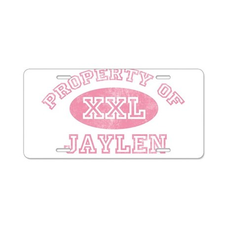 Property of Jaylen Aluminum License Plate