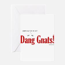 Dang Gnats Greeting Card