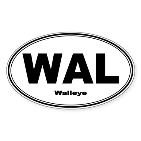 Walleye Sticker (Oval) by fishnsticks
