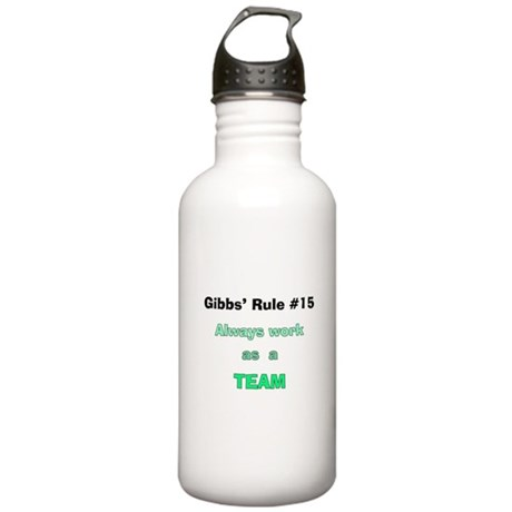 NCIS Gibbs' Rule #15 Stainless Water Bottle 1.0L