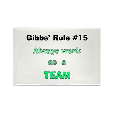 NCIS Gibbs' Rule #15 Rectangle Magnet (100 pack)