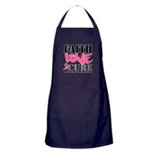 Faith Love Cure Breast Cancer Apron (dark)