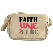 Faith Love Cure Breast Cancer Messenger Bag