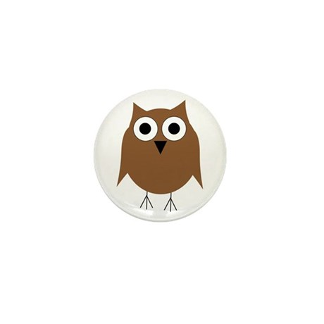 Brown Owl Mini Button