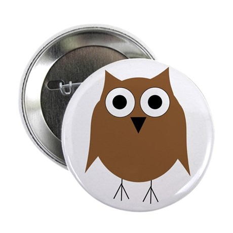 """Brown Owl 2.25"""" Button (10 pack)"""