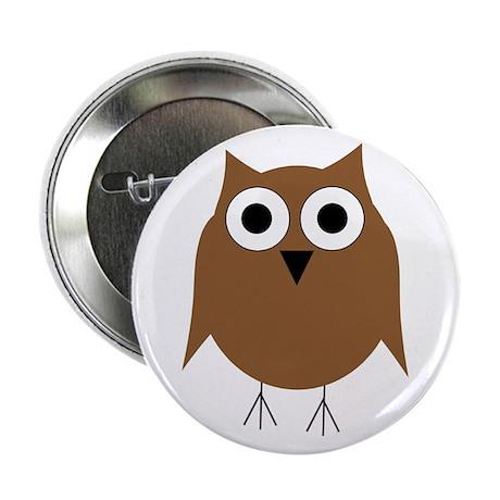 "Brown Owl 2.25"" Button"