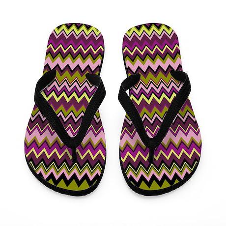 Zig Zag Designer Pattern Flip Flops