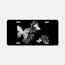 Butterfly Fantasy 2 Dark Aluminum License Plate