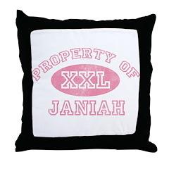 Property of Janiah Throw Pillow