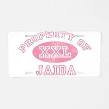 Property of Jaida Aluminum License Plate