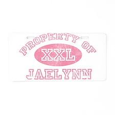 Property of Jaelynn Aluminum License Plate