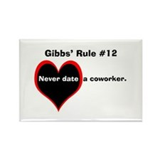 NCIS Gibbs' #12 Rectangle Magnet