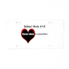 NCIS Gibbs' #12 Aluminum License Plate