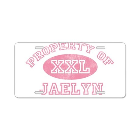Property of Jaelyn Aluminum License Plate