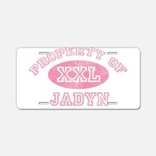 Property of Jadyn Aluminum License Plate