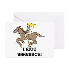 I Ride Bareback Greeting Cards (Pk of 20)