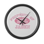 Property of Jaden Large Wall Clock
