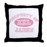 Property of Jaden Throw Pillow