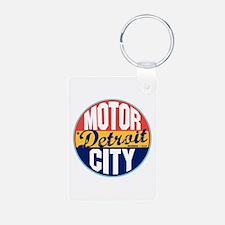 Detroit Vintage Label Keychains
