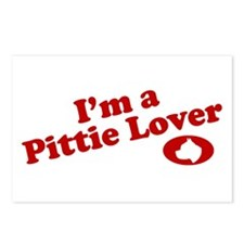 I'm a Pittie Lover! Postcards (Package of 8)