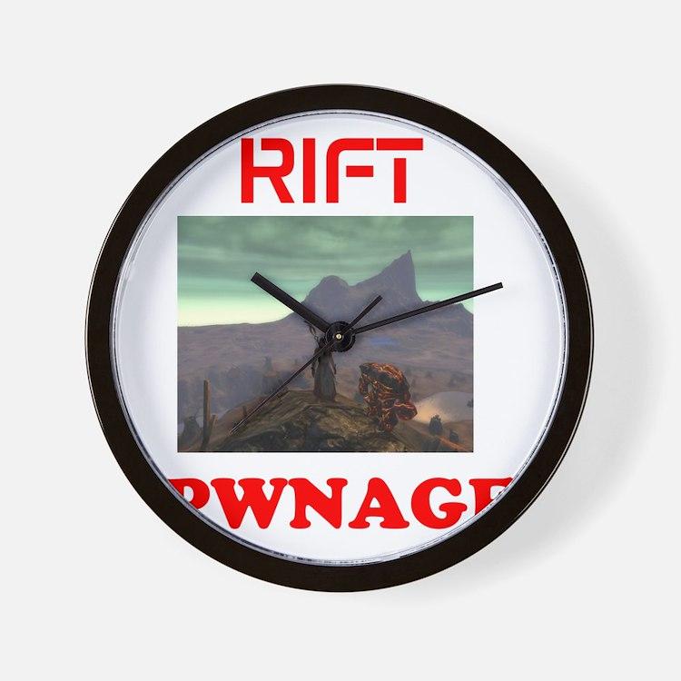Rift Wall Clock