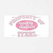 Property of Itzel Aluminum License Plate