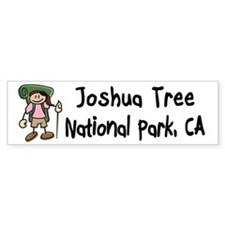Hike Joshua Tree (Girl) Bumper Sticker