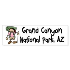 Hike Grand Canyon (Girl) Bumper Sticker