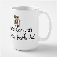 Hike Grand Canyon (Girl) Large Mug