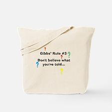 NCIS Gibbs' Rule #3 Tote Bag