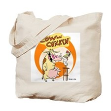 Cow and Chicken Tote Bag