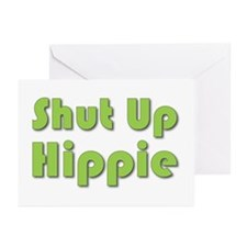 Shut Up Hippie Greeting Cards (Pk of 10)