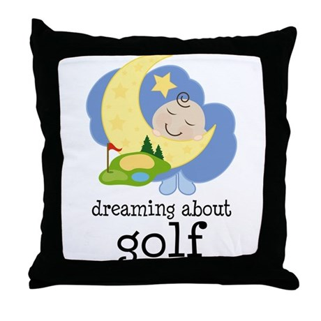 Dreaming About Golf Throw Pillow