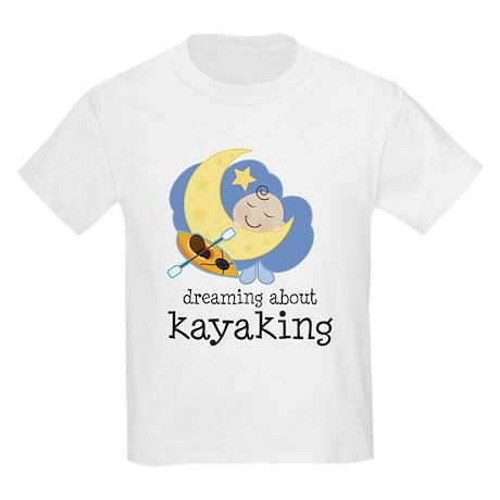 Dreaming About Kayaking Kids Light T-Shirt