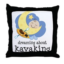 Dreaming About Kayaking Throw Pillow