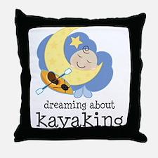 Dreaming About Kayaking Throw Pillow