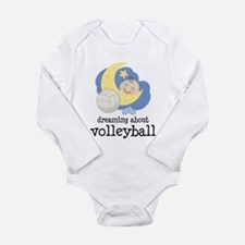 Dreaming About Volleyball Long Sleeve Infant Bodys