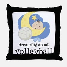 Dreaming About Volleyball Throw Pillow