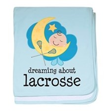 Dreaming About Lacrosse baby blanket