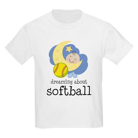 Dreaming About Softball Kids Light T-Shirt
