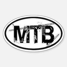 MTB Oval Bumper Stickers
