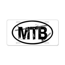 MTB Oval Aluminum License Plate