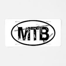 MTB Oval Aluminum License Plate