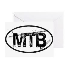 MTB Oval Greeting Card
