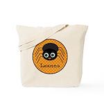 Orange Polka Dot Halloween Spider Tote Bag