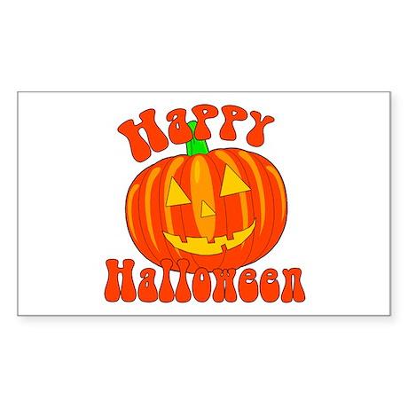 Happy Halloween Sticker (Rectangle)