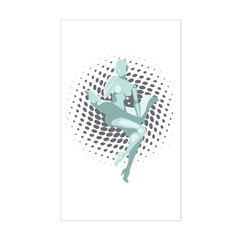 Marilyn Robot Sticker (Rectangle)