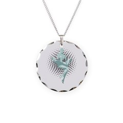 Marilyn Robot Necklace Circle Charm