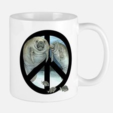peace manatee Mugs
