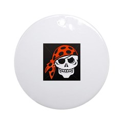 Pirate Skull Ornament (Round)